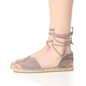Soludos Ballearic Tie-Up Sandal in Dove Grey
